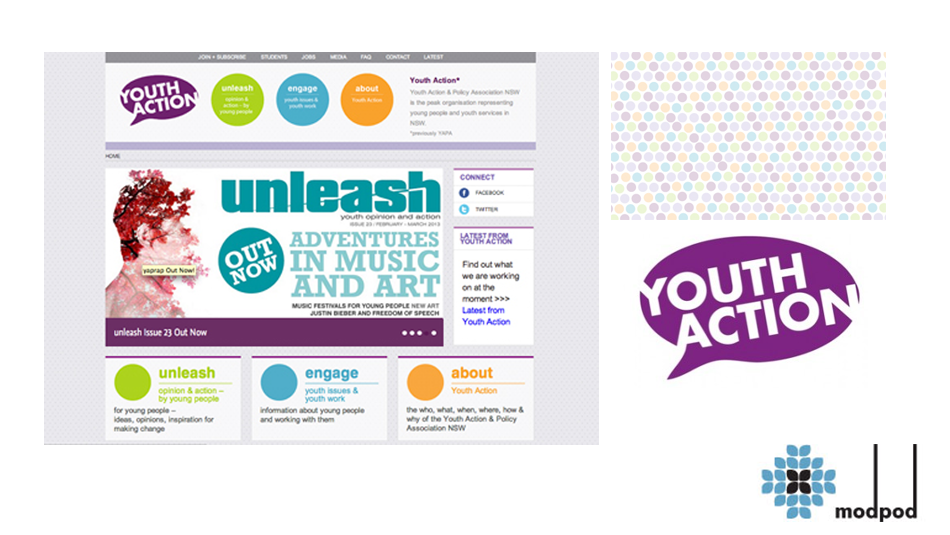 Youth Action website - Ben Posetti